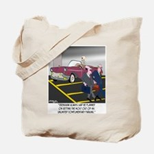 Parking Even in Death Tote Bag