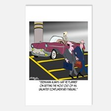 Parking Even in Death Postcards (Package of 8)
