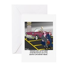 Parking Even in Death Greeting Cards (Pk of 10)