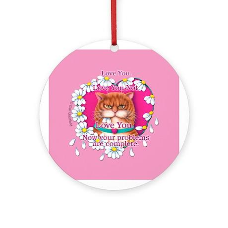 Roosevelt Love Keepsake Porcelain Ornament(Round)