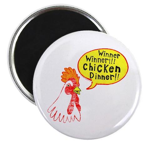 """Winner Chicken Dinner 2.25"""" Magnet (10 pack)"""