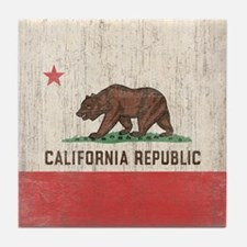 Vintage California Republic Flag Tile Coaster