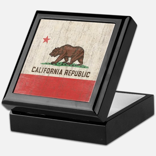 Vintage California Republic Flag Keepsake Box