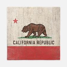 Vintage California Republic Flag Queen Duvet