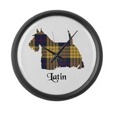 Terrier - Latin Large Wall Clock
