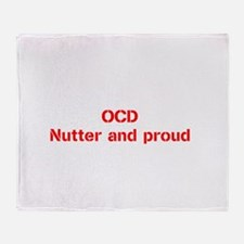 Cute Obsessive compulsive disorder Throw Blanket