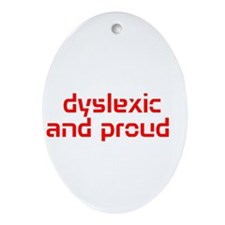 Cute Dyslexia Ornament (Oval)