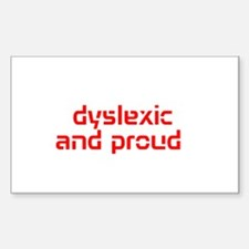 Cute Dyslexia Decal