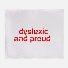 Cute Dyslexia Throw Blanket