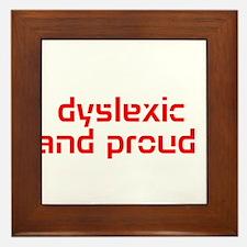 Unique Dyslexia Framed Tile