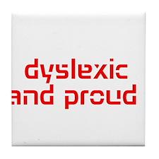 Cute Dyslexia Tile Coaster