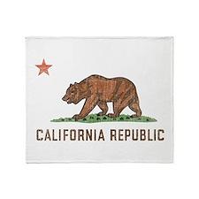 Vintage California Republic Throw Blanket