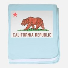 Vintage California Republic baby blanket