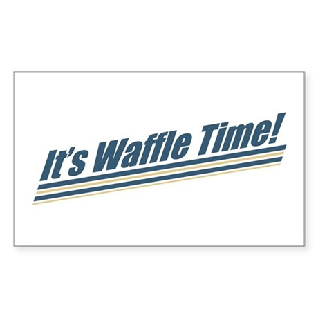 It's Waffle Time! Rectangle Sticker