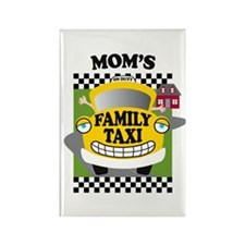 Mom's Family Taxi Rectangle Magnet