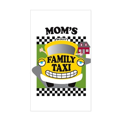 Mom's Family Taxi Sticker (Rectangle)