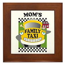 Mom's Family Taxi Framed Tile