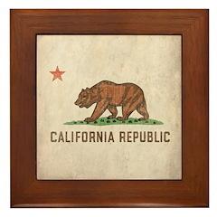 Vintage California Republic Framed Tile