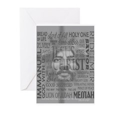 Names of Jesus - Black Greeting Cards (Package of