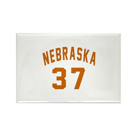 Nebraska 38 Birthday Designs Rectangle Magnet
