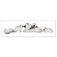 Keeshond with Puppies Bumper Bumper Sticker