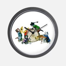 Jazz Cats Wall Clock