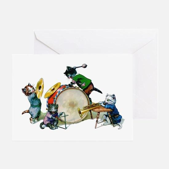 Jazz Cats Greeting Card