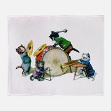 Jazz Cats Throw Blanket