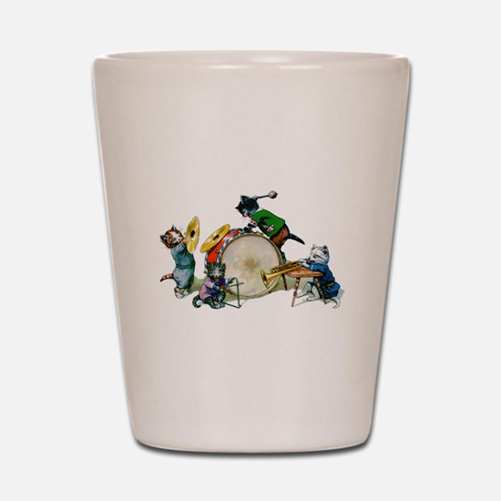 Jazz Cats Shot Glass