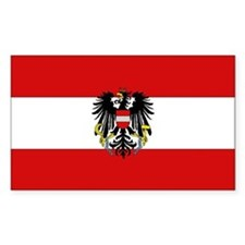 Austrian National Flag Rectangle Decal