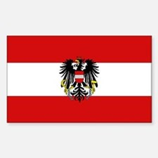 Austrian National Flag Rectangle Decal