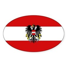 Austrian National Flag Oval Decal