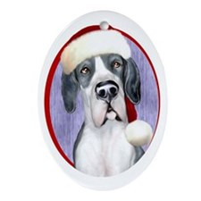 Santa Dane Mantle UC Oval Ornament