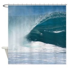 Pipeline Glass Wave Shower Curtain