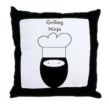 Grilling Ninja Throw Pillow