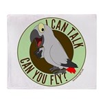 I Can Talk, Can You Fly? Throw Blanket