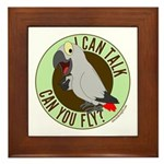 I Can Talk, Can You Fly? Framed Tile