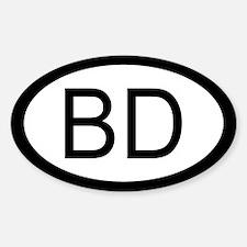 Bangladesh Car Oval Decal