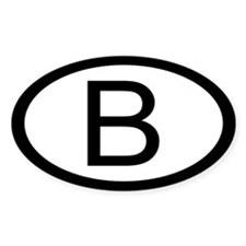 Belgian Car Sticker / Decal (Oval)