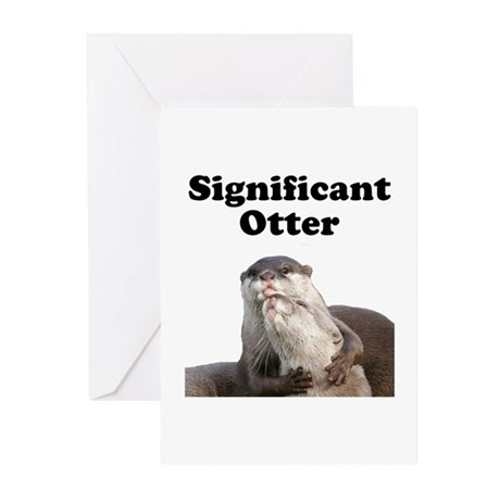 Significant Otter Greeting Cards (Pk of 10)