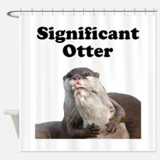 Significant Otter Shower Curtain