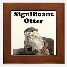 Significant Otter Framed Tile