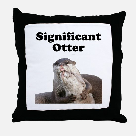 Significant Otter Throw Pillow