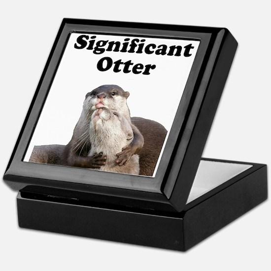 Significant Otter Keepsake Box