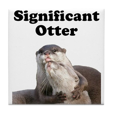 Significant Otter Tile Coaster