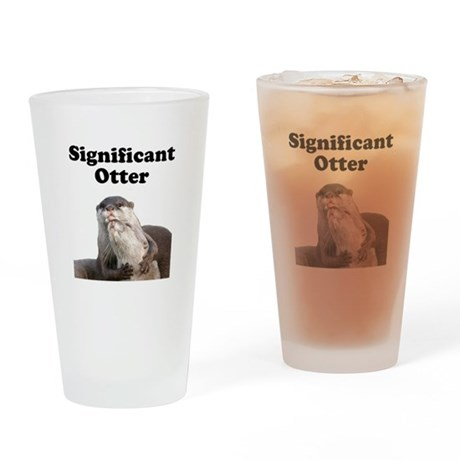 Significant Otter Drinking Glass