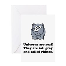 Unicorn Rhino Greeting Card