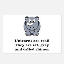 Unicorn Rhino Postcards (Package of 8)