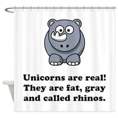 Unicorn Rhino Shower Curtain