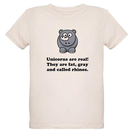 Unicorn Rhino Organic Kids T-Shirt